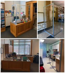Custom PPE Safety Dividers for School Offices and Hallways